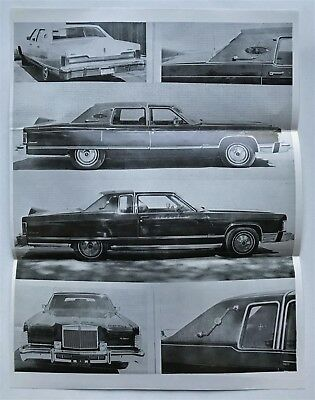 1974 1975 Lincoln Pheaton Town Car and Formal Sedan Limousine Sales Letters