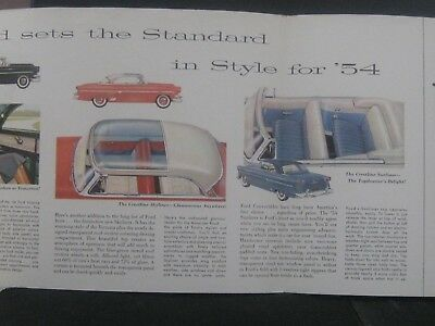 1954  Ford 'Fashion Leaders' Sales Brochure