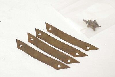 F87016~ Four (4) Brass Ground Glass Clips For Large Format Camera