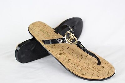 de1113c1b480 New Michael Kors Women s MK Charm Jelly Thong Sandals Size 10m Black