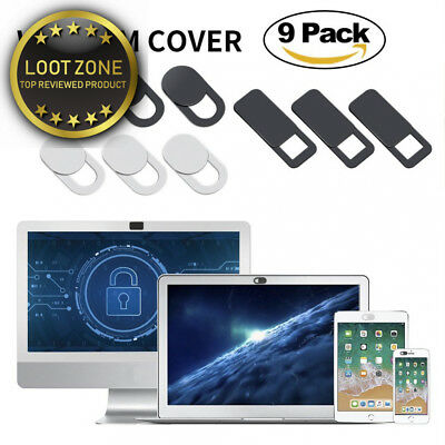 AJOXEL Webcam Cover (9 Pack), 0.027 inch Super Thin Privacy Protects Your...