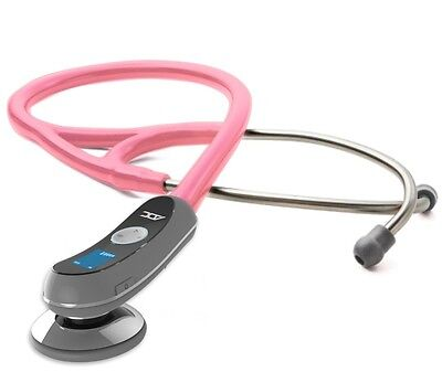 NEW ADC Adscope Model 658 Electronic Digital Stethoscope METALLIC PINK
