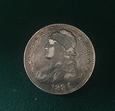 1834 Capped Bust Half Dollar AU                          Lettered Edge