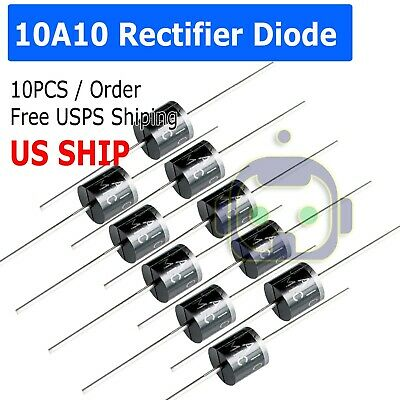 10A10 10 Amp 1000V 10A 1KV Axial Rectifier Diode 10 Pcs  USA SELLER  solar panel
