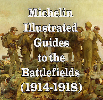 22 Michelin Illustrated Guides to Battlefields of World War 1 DVD Battle Map WW1