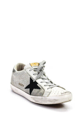 2434644359e8 Golden Goose Deluxe Brand Womens Perforated Skate Sneakers White Leather Size  40
