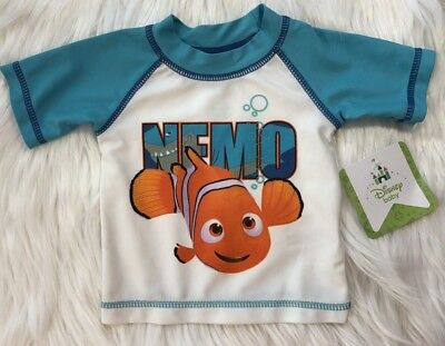 8e3b2e93b5 NWT Disney Baby Newborn NB Infant Boys Nemo Fish Rash Guard Swim Shirt