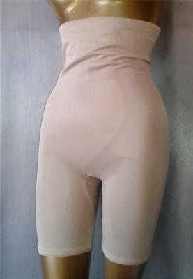 HIGHWAIST NUDE / BEIGE Vintage 1980s LONG LEG GIRDLE SHAPER PANTIES - LRG