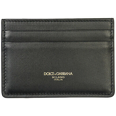 56c041ed00090 DOLCE GABBANA MEN S GENUINE Leather Money Clip Wallet New Black 701 ...