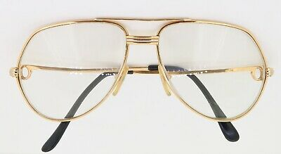 .Vintage 1980s Mens Must de Cartier Trinity Vendome Glasses 130