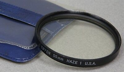 55mm Screw-In Filter TIFFEN UV HAZE-1 Made in USA NEW OLD STOCK