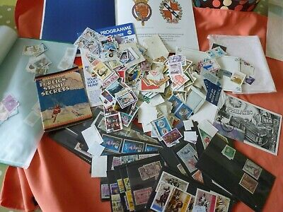 A Collection Of Over 500 + Assorted Stamps - Loose And In Stock Sheets.