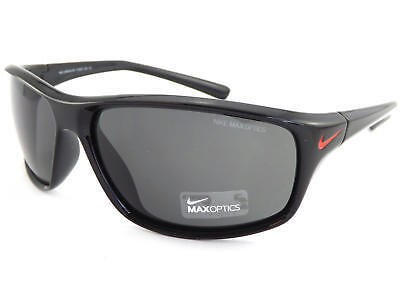 1c2537a2b8a NIKE - ADRENALINE Shiny Black Red Sunglasses  Dark Grey CAT.3 Lenses EV0605  001
