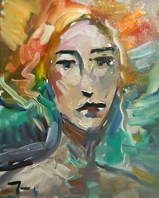 Jose Trujillo Modernism Oil Painting Expressionist Fauvism Portrait Collectible