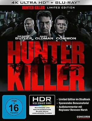 Hunter Killer - 4K Ultra HD Blu-ray / Steelbook # UHD+BLU-RAY-NEU