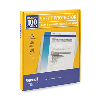 Heavyweight Clear Sheet Protectors, Box of 100 Plastic Page Protectors