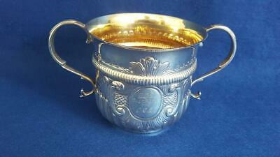 LC1: Fabulous Antique H/M Sterling Silver Loving Cup Ldn 1891 255g