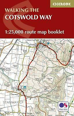 Cotswold Way Map Booklet: 1:25,000 OS Route Mapping by Kev Reynolds Paperback Bo