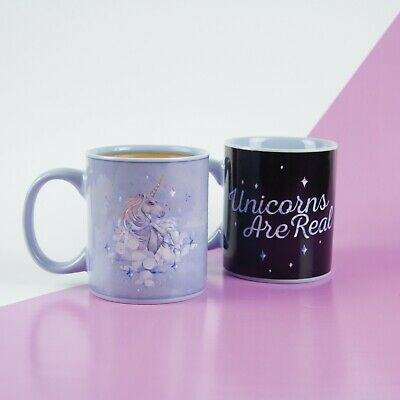 Cute Magical Sparkle Unicorns Are Real Heat Sensitive Changing Fun Mug