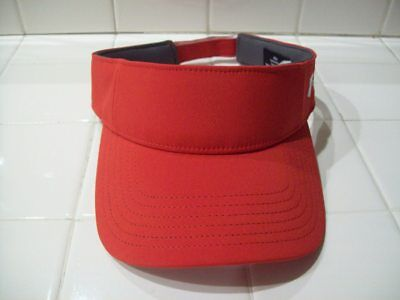 Womens Under Armour Golf Visor Hat Red Adjustable Tab One Size Nwot New 5795527c758