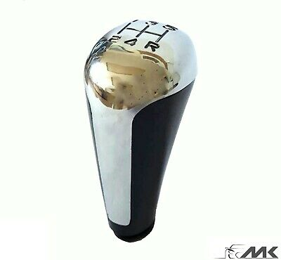 Universal 5 Speed Car Chrom Shift Knob Manual Gear Stick Shifter Lever  5+R