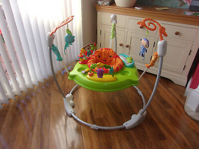 56412a3cf FISHER-PRICE ROARING RAINFOREST Jumperoo BABY BOUNCER ACTIVITY PLAY ...