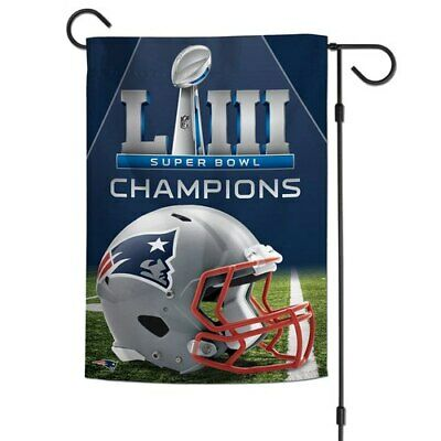 WinCraft New England Patriots Super Bowl LIII Champions 12'' x 18'' Two-Sided