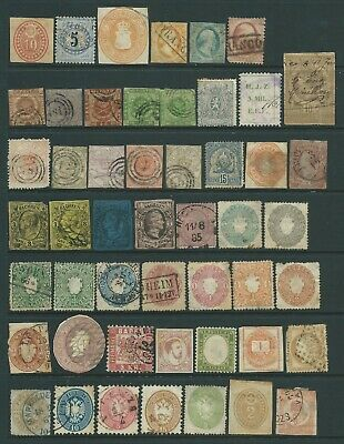 Collection of various mixed used stamps.