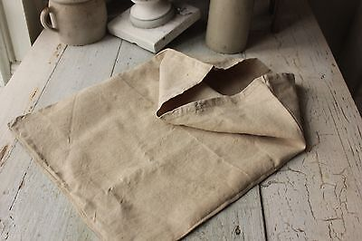 Linen Sack Rustic Antique French bag old duffle textile