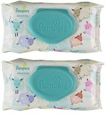 PAMPERS BABY WIPES SENSITIVE 56ct (2 PACK)