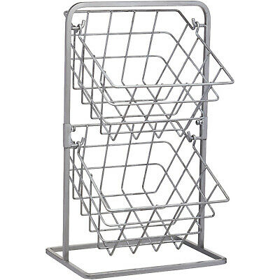 Industrial Kitchen 2 Tier Distressed Style Wire Vegetable Storage Baskets