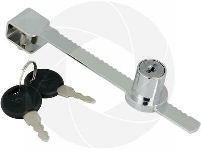 Metal Ratchet Bar Sliding Glass Showcase Display Cabinet Door Lock with 2 Keys