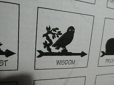 The Profiles Range Cottage Black Wisdom Owl Weathervane / Weather Vane In Box