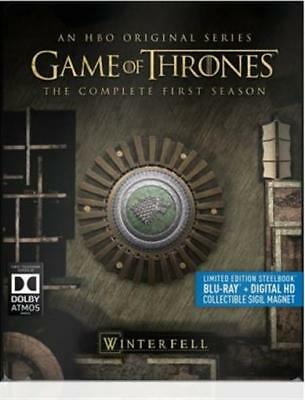 Game of Thrones: The Complete First Season (Blu-ray, 2015, 5-Disc, SteelBook)