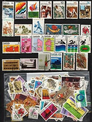 1970 To 1974 100 Australian Stamps  All Different  Used