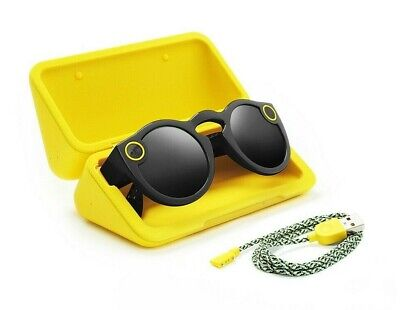 Spectacles Snap Smart Phone Camera Sun Glasses for Snapchat - Black