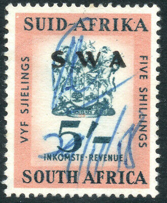 South West Africa Swa 1954/60 5/- Revenue Fiscal Tax Duty Tax