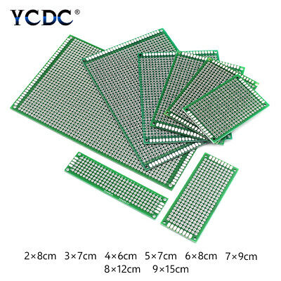 Double-Sided Pcb Circuit Board Prototype Breadboard For Arduino Diy Project 1Mm