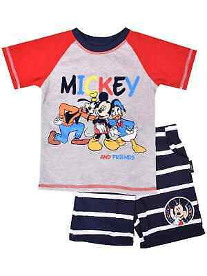 Disney Toddler Boys Mickey Mouse & Friends Outfit Shirt & Stripe Shorts Set