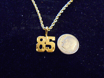 bling gold plated game fashion jewelry number 85 pendant charm hip hop necklace
