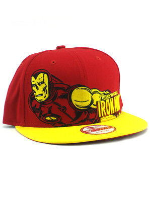 competitive price ffe78 dee1a New Era Iron Man 9fifty Snapback Hat Adjustable Marvel Classic Heroes Red  NWT