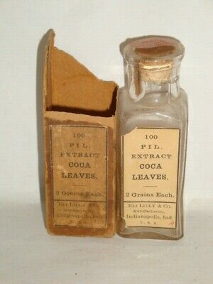 Nice Old Eli Lilly Cocaine Pharmaceutical Controlled Substance Medicine Bottle