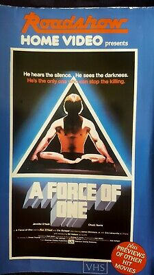 """""""A Force Of One"""" Chuck Norris* Vhs* Martial Arts ~ Roadshow ~ A Rare Buy!"""