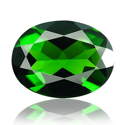 1.50cts 100% Natural earth mined extremely rare deep green color chrome diopside