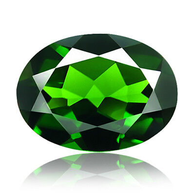 1.42ct 100% Natural earth mined extremely rare deep green color chrome diopside