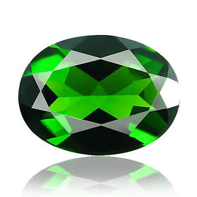 1.50ct 100% Natural earth mined extremely rare deep green color chrome diopside