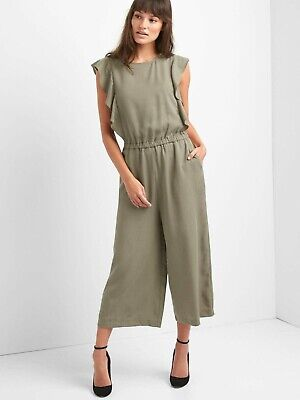 c08fb319ea7 Old Navy Waist Defined Tencel Flutter Sleeve Jumpsuit-Olive-Size XL New W