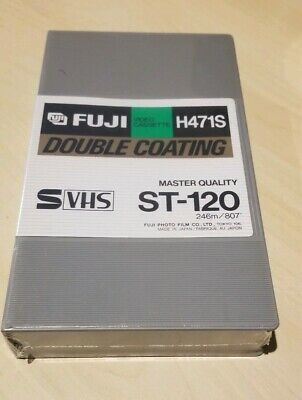 Fuji H471S Master Quality Video Cassette ST-120 Double Coating - Factory Sealed