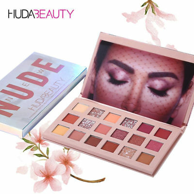 New HUDA BEAUTY Rose Gold Edition Textured Eye Shadow Palette 18 Colours BG EU