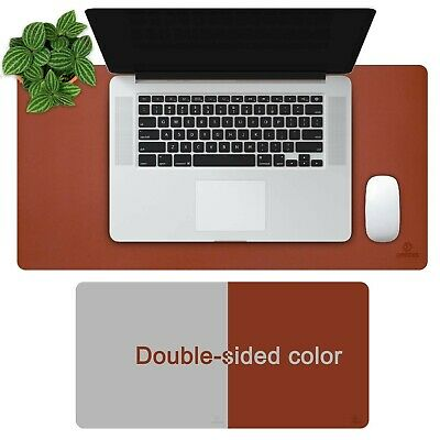 """OFFIDIX Office Desk Mat, 24""""x12 """" Non-Slip PU Leather Two Colors Desk Mou... New"""